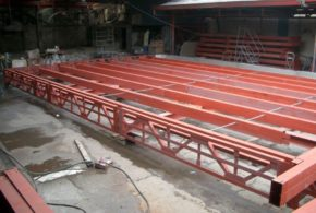 Structural steel in Astron metal plant